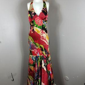 Sue Wong Vintage Asian Inspired Mermaid Dress